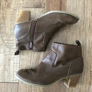 Old Navy brown booties size 9